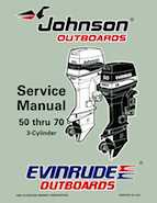 1997 johnsoon evinrude eu 50 thru 70 3 cylinder service for How to service johnson outboard motor