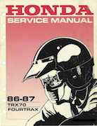 1986-1987 Honda Fortrax TRX70 Service Manual