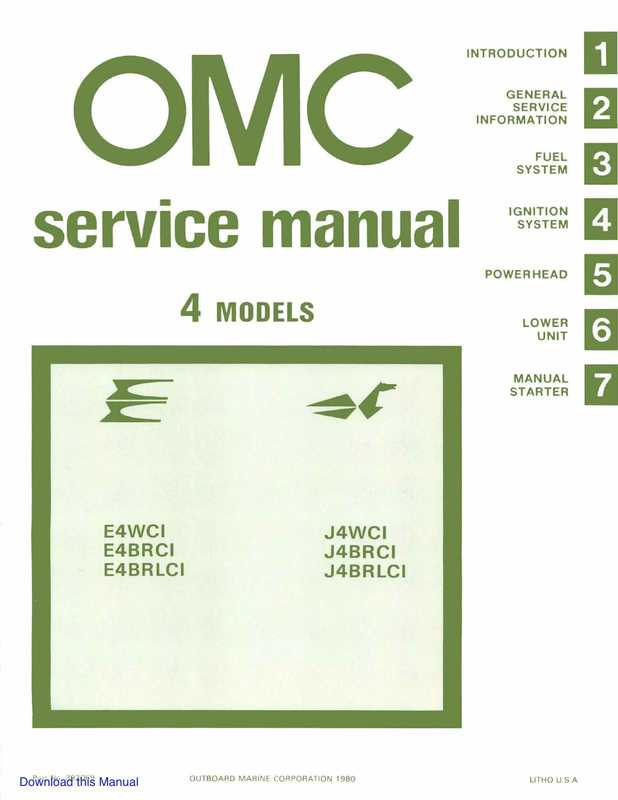 1981 Johnson  Evinrude 4hp Outboards Service Manual Image 1