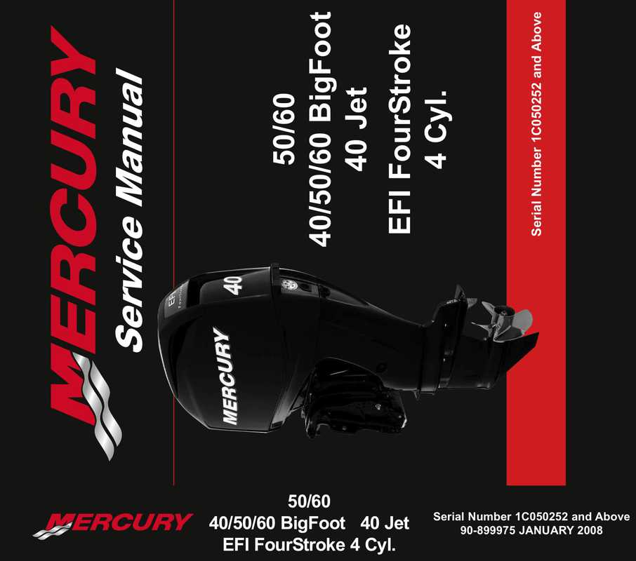 Mercury Marine 40 50 60 Efi 4 Manual Guide